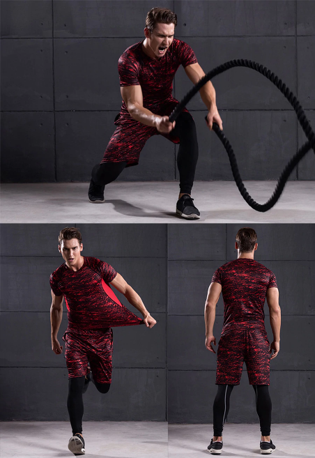 Men 3 Pcs Bodybuilding Leggings, Tights code-GA-RPK#M7 (2)